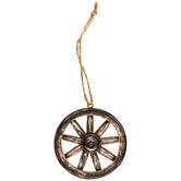 Rustic Wagon Wheel Ornament
